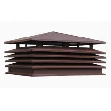 Колпак на дымоход / вентшахту Модерн с четырехскатной крышей