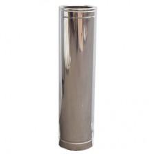 Труба дымоходная двухстенная нерж/нерж 1 м с термоизоляцией