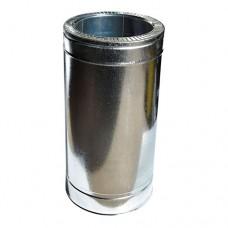 Труба дымоходная двухстенная нерж/оц 0,5 м с термоизоляцией