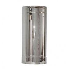 Труба дымоходная двухстенная нерж/нерж 0,5 м с термоизоляцией
