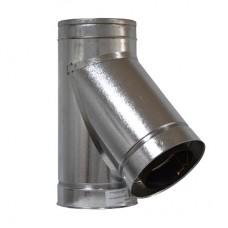 Тройник дымоходный двухстенный нерж/оц 45° с термоизоляцией